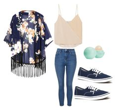 Untitled #11 by madisenharris on Polyvore featuring Chelsea Flower, Topshop, Vans and Eos