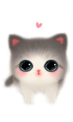 喵 ~ We introduce Mengs little eyes ~~ - lustige Bilder - Cat Drawing Cute Cat Drawing, Cute Animal Drawings, Kawaii Drawings, Cute Drawings, Pikachu Drawing, Cute Cat Wallpaper, Cute Disney Wallpaper, Cute Cartoon Wallpapers, Kittens Cutest