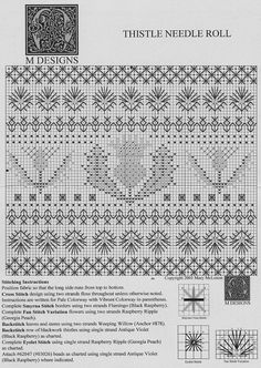 Thistle Blackwork Source by bonniewesley Blackwork Patterns, Blackwork Embroidery, Diy Embroidery, Cross Stitch Embroidery, Embroidery Patterns, Knitting Patterns, Cross Stitch Borders, Cross Stitch Charts, Cross Stitch Designs