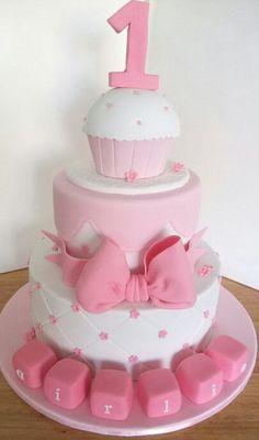 Baby girl 1st B-Day Cake