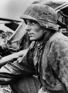 Portrait of a Totenkopf Division soldier in the battlefield during Operation Barbarossa in 1941.
