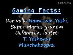 Der volle Name von Yoshi, Super Marios grünem Gefährten, lautet: T. Yoshisaur Munchakoopas.