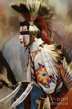 Pow Wow First Nation Dancer Print by Bob Christopher. All prints are professionally printed, packaged, and shipped within 3 - 4 business days. Choose from multiple sizes and hundreds of frame and mat options. Native American Warrior, Native American Regalia, Native American Pictures, Native American Artwork, Native American Beauty, American Indian Art, Native American History, American Symbols, American Women