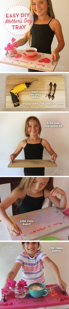 Easy DIY Tray for Mother's Day by Brenda Ponnay |  Alphamom.com