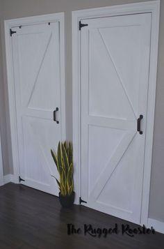 Super+Cheap+Closet+Doors+ +DIY
