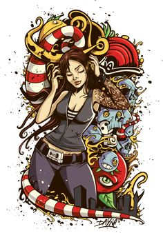 Illustrations by Dayne Henry Jr, via Behance