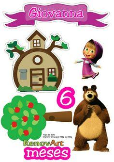 Masha And The Bear, Ideas Para Fiestas, Birthday Board, Teddy Bear, Clip Art, Wallpaper, Crafts, Egyptian Party, Cakes