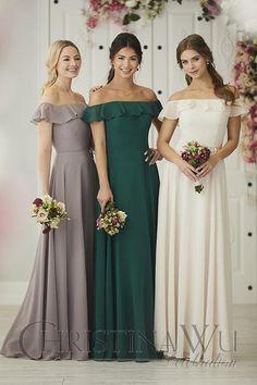 House Of Wu Style 22924 / Rose / Size 18 / $180 #HouseOfWu #ChristinaWu #Celebrations #Bridesmaid #BridesmaidDress #BridesmaidStyles #BridesmaidFashion #Chiffon #ChiffonDress #WeddingParty #BridalParty #PlusSize #PlusSizeDress #PlusSizeBridesmaidDress