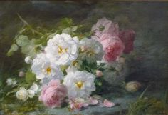 Andre Benoit Perrachon   (1827-1909)  Still life of roses