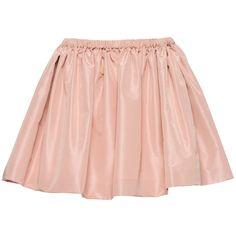 Miu Miu Skirt ($580) ❤ liked on Polyvore featuring skirts, mini skirts, bottoms, saias, faldas, elastic waist skirt, miu miu, pink skirt, short mini skirts and mini skirt