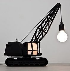 Turn one of Blayze's  tractors into a lamp for his room!!