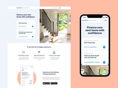 Home loans product page by Nicolas Solerieu