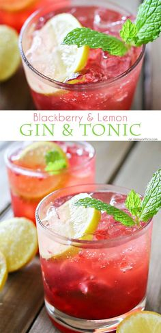 Blackberry Lemon Gin & Tonic is one of our favorite mixed drinks. It's one of those perfect cocktails for a hot summer day. Blackberries, lemon & gin is a delicious combination! Serve it at all your parties & backyard BBQ's.