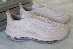 Custom Nike Air Max 97 Shoes Embellished in Rose Gold Swarovski Crystals - Sneakers Nike - Ideas of Sneakers Nike - Custom Nike Air Max 97 Shoes Embellished in Rose Gold Swarovski Crystals Free Domestic Shipping Best Sneakers, Sneakers Fashion, Sneakers Nike, Nike Shoes Air Force, Nike Air Max, Baskets, Aesthetic Shoes, Balenciaga, Hype Shoes