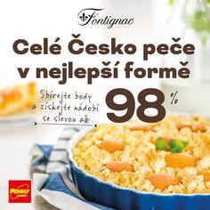 Sbírejte body za nákupy v PENNY a získejte špičkové nádobí francouzské značky Fontignac se slevou až 98 %! Všechny stylové výrobky Fontignac, které vám nyní v PENNY nabízíme, jsou vyrobeny z kvalitních materiálů a dohromady tvoří ucelenou kolekci. Více informací na www.penny-fontignac.cz.  Body jsou vydávány v termínu 31. 3. – 27. 7. 2016 nebo do vydání zásob v jednotlivých prodejnách PENNY. Cereal, Grains, Breakfast, Food, Morning Coffee, Essen, Meals, Seeds, Yemek