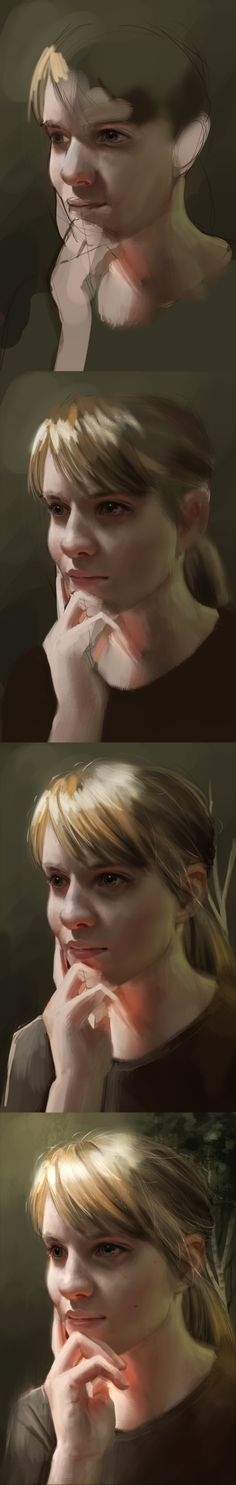 self portrait process by Detkef