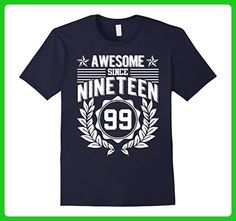 Mens Legend Born In 1999 Awesome Since Birthday Gift 18 Years Old Large Navy - Birthday shirts (*Amazon Partner-Link)