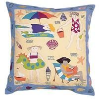 Beach Day Applique Pillow From Susan Sargent