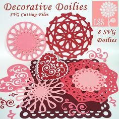 Doilies are all the rage in crafting right now and why not, their timeless elegance never goes out of style. These 8 SVG files have been optimized for cutting with your digital die cutting machine. They are designed to cut cleanly and rather quickly compared to other intricate cutting files. You even get a helpful tip sheet with color step by step instructions for making mats for your doilies and shaped cards too. Save the frustration and get to the fun with this beautiful doily SVG die…