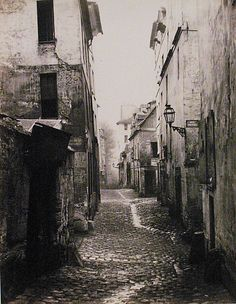 Rue Traversine (from the Rue d'Arras) Charles Marville (French, Paris 1813–1879 Paris) Date: ca. 1868