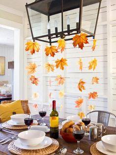 DIY Interesting Thanksgiving decoration ideas | chandelier