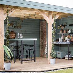 Win an outdoor kitchen + accessories Outdoor Buildings, Garden Buildings, Outdoor Rooms, Outdoor Living, Outdoor Decor, Outdoor Cabana, Contemporary Garden Design, Tiered Garden, Wooden Pergola