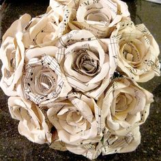 One Dozen Paper Roses, Made To Order