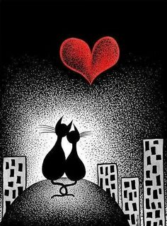 Cats〰➰〰Kittens❗➖Carrying Your Heart With Me. By: Ben Heine. Crazy Cat Lady, Crazy Cats, I Love Cats, Cute Cats, Cat Drawing, Cat Art, Cats And Kittens, Kitty Cats, Cat Lovers
