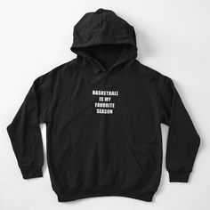 """""""Basketball Is My Favorite Season"""" Kids Pullover Hoodie by ind3finite 
