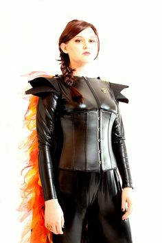 hunger games inspired light up girl on fire costume with. Black Bedroom Furniture Sets. Home Design Ideas