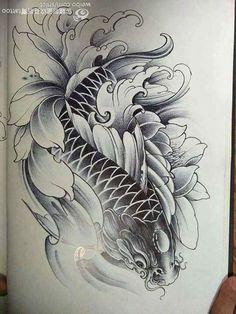 Tatoo Art, Body Art Tattoos, Tattoo Drawings, Sleeve Tattoos, Pez Koi Tattoo, Koi Dragon Tattoo, Chinese Tattoo Designs, Japanese Tattoo Art, Tattoo Blog