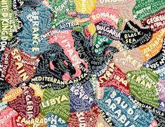 Paul Scher Paula Scher, Map Crafts, Positive Art, London Map, Old Maps, Map Design, Design Museum, Typography, Poster Prints