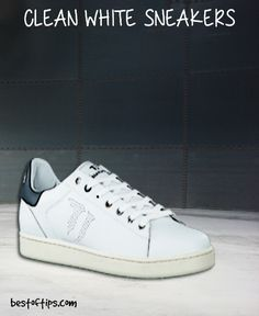 f21254b0aaa HOW TO CLEAN WHITE SNEAKERS. White footwear looks good but maintaining it  can ...
