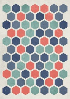 How to make this textured hexagon pattern in illustrator and photoshop by blog spot graphics