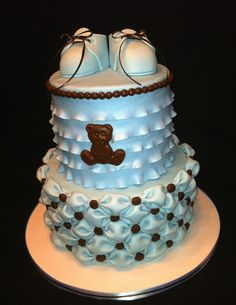 fondant baby shower cake - Google Search