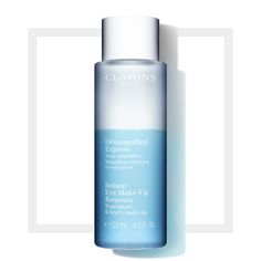 The Clarins Instant Eye Make-Up Remover works to instantly lift away every last trace of make-up, including long-wearing and waterproof formulas. The bi-phase eye make-up remover lotion is enriched with rose and cornflower waters which work to moisturise and soothe the skin and ultra-fine oils which have a softening effect and enhance the cleanser ability. This ultra-effective instant make-up remover lotion leaves skin clean and perfectly radiant day after day. It does not sting even the…