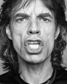 """Sir Michael Philip """"Mick"""" Jagger , English musician, singer, songwriter and actor, best known as the lead vocalist and a co-founder of the Rolling Stones. - photo by Patrik Andersson Mick Jagger, Like A Rolling Stone, Rolling Stones, Black And White Portraits, Black And White Photography, Rock Argentino, Grandes Photos, Celebrity Portraits, Keith Richards"""
