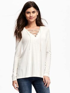 I love this old navy lace up shirt(burgundy color)