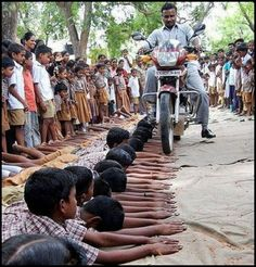In India ~  WTH??  is this a punishment??