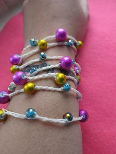 Poppin Flowers Versatile crocheted necklace / by FleasKnees, $15.00