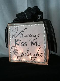 glass block craft ideas | Craft Ideas  I have to make this for my bedroom/ even my hubby loves it!