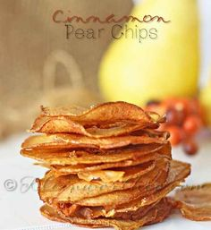 Cinnamon-Pear Chips