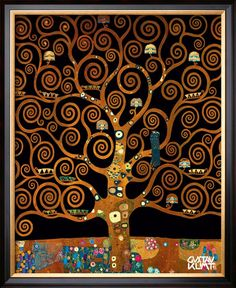 Under The Tree Of Life by Gustav Klimt - Click Image to Close