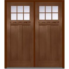 Milliken Millwork 72 In. X 80 In. Classic Clear Glass 6 Lite Craftsman  Finished