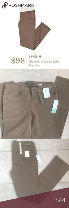 """STITCH FIX Level 99 Giovanni Lily Skinny Pants 10 Recived from Stitch Fix- New with tags. Perfect condition. These versatile skinny straight pants are so soft! They have a little stretch to be super flattering. Neutral color goes with everything. Size 30/10.  Approximate measurements: Waist 15.5"""" across; rise 8.5""""; hips 17"""" across; calf 6.75"""" across; leg opening 6.25"""" across; inseam 31.75. Stitch Fix Pants Skinny"""