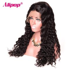 360 Lace Frontal Wig Brazilian Water Wave 150 Density Lace Front Human Hair Wigs for Black Women ALIPOP Remy 360 Lace wig