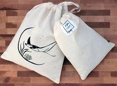 Sac à vrac sac réutilisable en coton imprimé à la main sac Diy And Crafts, Etsy, Bags, Printed Cotton
