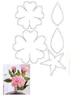 molde flor simples