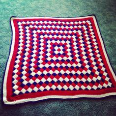 Entrelac afghan #crochet
