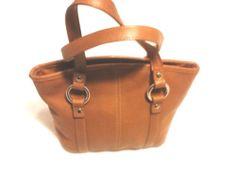 Fossil Leather Mini Tote, Handbag, Brown
